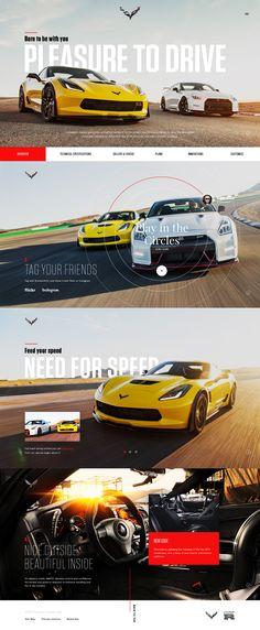 Corvette Website Design Inspiration, Graphic Design Inspiration, Creative Web Design, Ui Ux Design, Chevrolet Corvette, User Interface, Instagram Feed, Automobile, Car