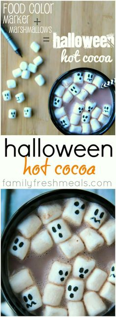 Ghost hot cocoa marshmallows