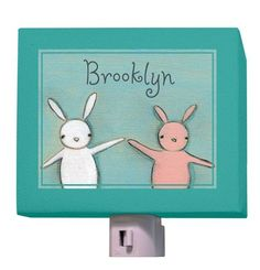 """Homer and Henrietta"" personalized night light by Creative Thursday by Marisa for Oopsy daisy, Fine Art for Kids $25 + 10 for pers."