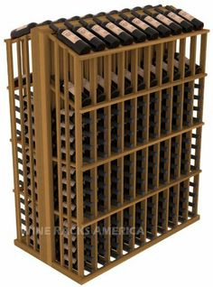 Wooden 280 Bottle Double Reveal Aisle Wine Cellar Rack Storage Kit in Redwood with Oak Stain by Wine Racks America®. $736.37. Choose From either Pine, Redwood, or Mahogany along with optional Industry Leading Quality Eco-Friendly Stains Paired with an Immaculate Satin Finish. Each have custom finishes and are professionally stained to order, so please allow a few additional days after your purchase for your order to be shipped.. Easy-edge Bottle Holders:Measur...
