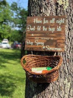 Campground Wedding, Camp Wedding, Outdoor Wedding Reception, Lake Wedding Ideas, Outdoor Rustic Wedding Ideas, Rustic Wedding Signs, Rustic Outdoor Decor, Small Backyard Weddings, Wedding Backyard