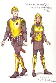 Captain Carrot  and Angua.  Diskworld Guard.  Terry Pratchett.  THUD.