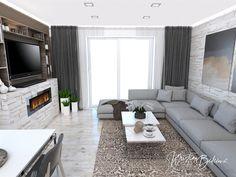 Funkčná elegancia - Dizajn kuchyne s obývačkou - Kristína Bedečová Living Room Kitchen, Luster, Couch, Furniture, Design, Home Decor, Elegant, Settee, Decoration Home