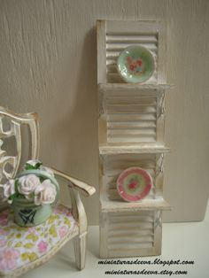 Shelves at shabby chicvintage style. Dollhouse. by MiniaturasDeEva, €12.00