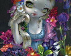 La petite sirène fairytale rousse sirène féerie art par strangeling