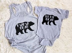 A personal favorite from my Etsy shop https://www.etsy.com/ca/listing/478712715/mama-bear-baby-bear-little-bear-matching