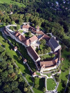 The Coburg Fortress (Veste Coburg) in Bavaria is one of the largest surviving medieval fortresses in Germany. It is a fascinating castle in itself, but is especially famous for sheltering Martin Luther during the Diet of Augsburg in 1530.