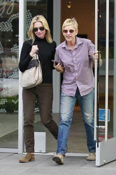Portia de Rossi - Ellen DeGeneres and Portia De Rossi Shop in LA