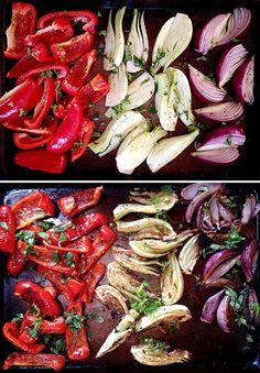 Pečená zelenina - výborná dietní příloha - DIETA.CZ Roasted Vegetables, Green Beans, Shrimp, Paleo, Food And Drink, Gluten Free, Stuffed Peppers, Recipes, Fitness Life