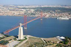 Lisbon Bridge..wow, looks like San Francisco and Rio de Janeiro in one!
