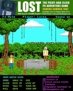 Lost as an 80's pixellated point-and-click game - 2