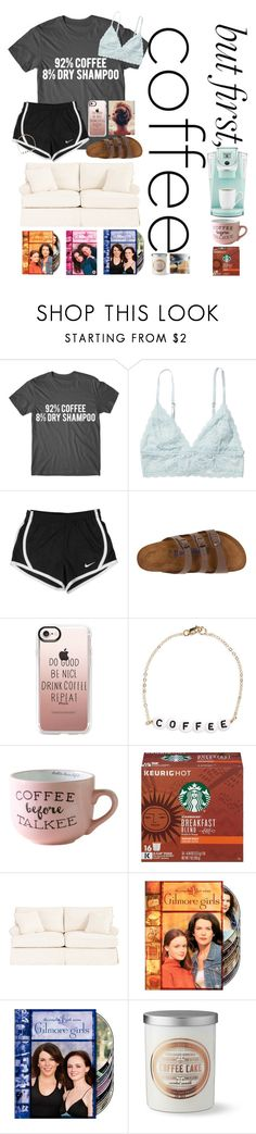"""Sorry I haven't posted in a while RTD"" by erinleigh02 ❤ liked on Polyvore featuring Monki, NIKE, Birkenstock, Casetify, Ryan Porter, Keurig, Ballard Designs, Däv and Williams-Sonoma"