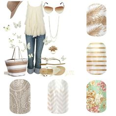 CUTE! shabby chic Jamberry nails Check them out or place an order: www.mbouyett.jamberrynails.net