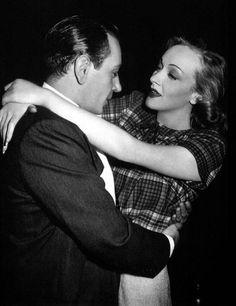 George Raft and Marlene Dietrich