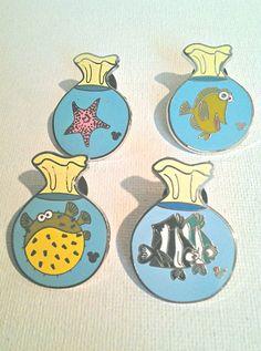 set of four finding nemo disney trader pins by beccasboudoir, $3.00