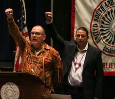 Chairman Archambault and USET President Brian Patterson, (Oneida Nation of New York). Photo credit goes to Scott Brings Plenty/Cherokee One Feathe