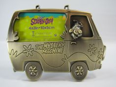 Scooby Doo Mystery Machine Brushed Metal Picture Frame 2001 #Collectible #Mystery Machine