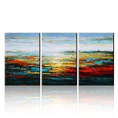 [Framed] Abstract Landscape Oil Hand Painting Picture Canvas Wall Art Home Decor #Abstract