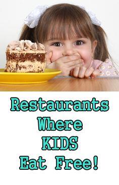 Thrifty Tip: Kids Eat Free Restaurants