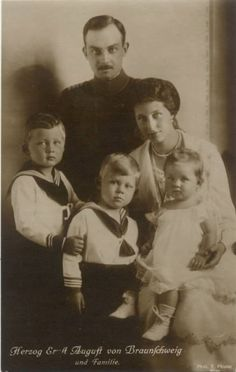 Princess Viktoria Luise with her husband and children.