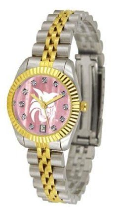 Central Washington NCAA Womens Executive Mother-Of-Pearl Watch by SunTime. $149.95. The ultimate fans statement our Ladies Executive Mother of Pearl timepiece offers women a classic business-appropriate look. Features a 23kt gold-plated bezel stainless steel case and date function. Secures to your wrist with a two-tone solid stainless steel band complete with safety clasp.Mother of Pearl Dial OptionThe hypnotic iridescence of our natural blush mother of pearl combined with...