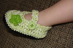 Crochet Mary Janes - Quick & cute...and a free pattern!