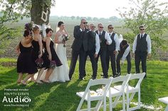 ... while the wedding party had some photo fun!