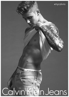 Justin Bieber Poses for Calvin Klein Jeans Spring 2015 Campaign Shoot ❤️