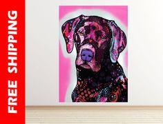 Black Labrador dog wall decal vinyl pop art dog by WallDecalsShop