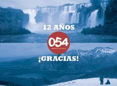¡GRACIAS!   En unas horas (a la medianoche) se cierra la participación en el sorteo de los viajes a Bariloche e Iguazú.   Lo hicimos para compartir el festejo de nuestros 12 años con ustedes y la respuesta fue tremenda.   Gracias por acompañarnos.  Mañana a la tarde estaremos anunciando a los ganadores.   Hasta la medianoche pueden seguir participando en esta o en las otras imágenes del sorteo de nuestro muro. Más info: http://www.054online.com/notas/2008/054-te-lleva-a-bariloche-y-a-iguazu