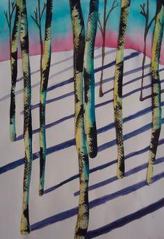 Mini Matisse: Winter Wooded Watercolor