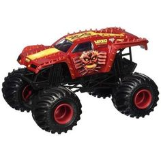 Hot Wheels Monster Jam Max-D Red Truck Vehicle 1:24 Scale Ready For Rough Play  #HotWheels