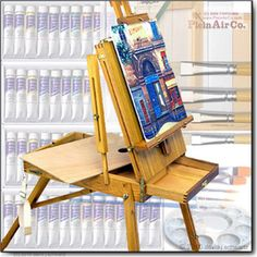 French Easel & Art Set 54 Paints Canvases Brush Sets & More...Free Shipping USA48States