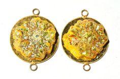 1Pc 45mm 24Kt Gold Plated Brass N Lemon by RareGemsNJewels on Etsy, $9.95