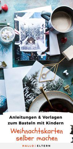 Manche Weihnachtskarten bleiben länger stehen als andere. Wie wäre es also mit ganz besonders liebevoll gestalteten Karten für Menschen, die uns besonders viel bedeuten? So kannst du mit deinen Kindern schöne Weihnachtskarten basteln. #Weihnachten