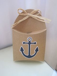 Anchor gift boxes! http://www.etsy.com/listing/154306303/12-anchor-nautical-theme-favor-boxes