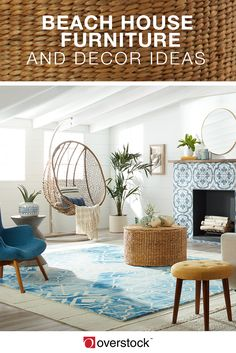 Beach House style is a unique and modern take on the classic coastal cottage. Imagine a vivid, eye-catching interior that combines sleek furniture and playful surf decor. Whites and blues echo the ocean-centered theme and provide the perfect backdrop for Beach House Furniture, Beach House Bedroom, Beach House Decor, Home Decor Bedroom, Living Room Furniture, Home Furniture, Living Room Decor, Beach Houses, Beach Bedrooms