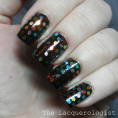 The Lacquerologist: Holiday Nails: New Years Eve Rainbow Bling!