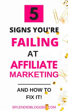 How to use affiliate marketing to make make money with your blog. Learn how to correct 5 of the most common mistakes bloggers make with affiliate marketing. Click here to find out how to identify these blogger mistakes and correct them to make money from home! | affiliate marketing | make money blogging | make money online | make money fast | splendidblogger.com #makemoneyonline #makemoneyblogging