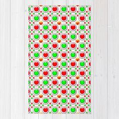 #society6 #throwrug #floors #home #decor #Christmas #Tree #Balls #festive #holidays #red #green #gifts #celebration #unique #petergross