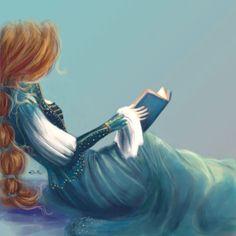 Princesa lectora (ilustración de Erithe)