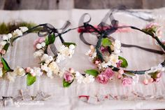 Silk Flower Crowns {DIY}