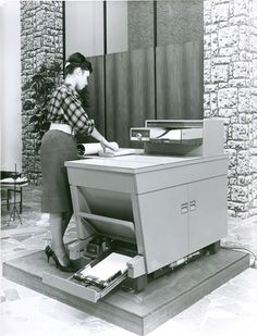 1960s. Xerox - revolutionary office technology for the day. Copies on demand.