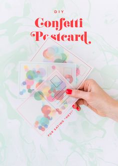 DIY Confetti Postcard – The House That Lars Built - Postcard