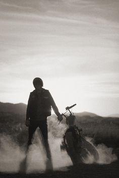 dust | bike | solitude | freedom | biker | motor bike | desert | rider |