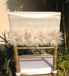 Wedding chair cover wedding chair sash by FloraRosaDesign on Etsy, Ft6500.00
