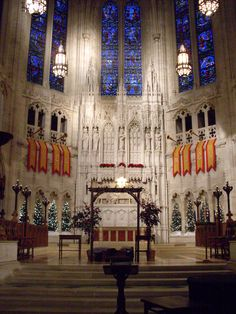 The interior of East Liberty Presbyterian Church at Christmastime.  I spent many hours in the choir stalls and around the chancel for pageants when Dr. Donald Kettring was the Minister of Music.