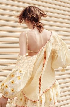 All I wanna wear this summer are these smocked beauties from Innika Choo. The Bali-based Australian designer's linen pieces are hand made in limited quantities with her signature smocked shoulders and delicately embroidered details. The one-size-fits-all dresses and tops are meant to worn