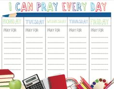 Back to School prayer resource for families