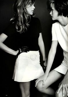 """labsinthe: """" Kate Moss & Trish Goff photographed by Mario Testino for Harper's Bazaar 1995 """""""